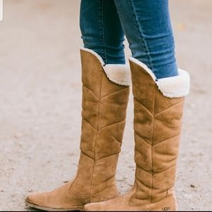 Ugg Samantha over the knee tan brown boots. Size 7